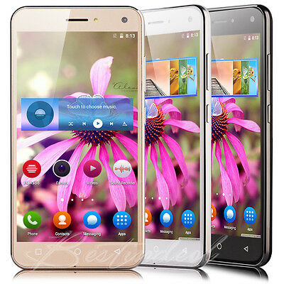 """5.0"""" Unlocked Mobile Phone Quad Core 3G GSM Dual SIM Android 5.1 Smartphone GPS"""