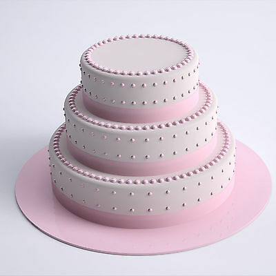 Round Acrylic Cake Board - 30 Colour Options