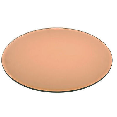 NEW - Round Copper Mirror Glass Plate Candle Display Wedding Table Decor 20-30cm