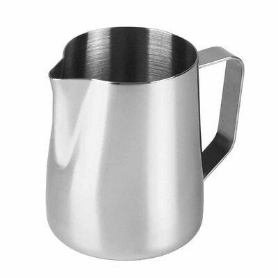 1000ml Stainless Steel 1L Metal Milk Frothing Jug Coffee Latte Cappuccino Cream