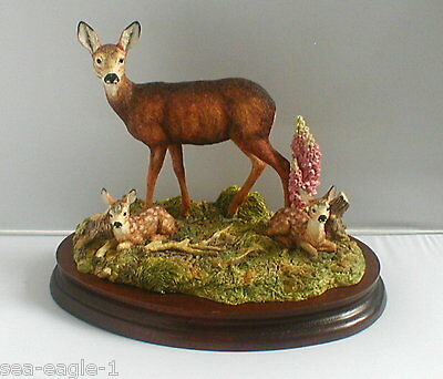 Border Fine Arts, Very Rare, Excl.Society Piece, IN A SUNNY GLADE, Deer,1999,MIB