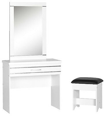 Jordan 1 Drawer Dressing Table Set with Stool, Girls NEW White Bedroom Furniture