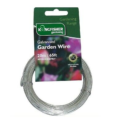 Kingfisher Garden Galvanised Fencing Wire 1.2Mm X 20M