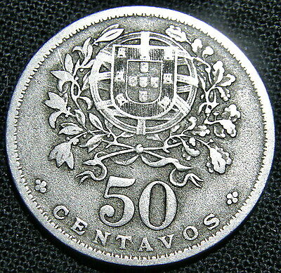 1938 Portugal, 50 Centavos Coin