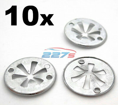 10x Volkswagen Metal Locking Star Washers- VW Underbody Heat Shield Fasteners