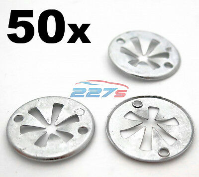 50x Volkswagen Metal Locking Star Washers- VW Underbody Heat Shield Fasteners
