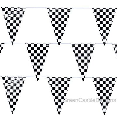Checkered Flags Banner 500 ft String Pennant Car Racing Party Supplies 5- 100 ft