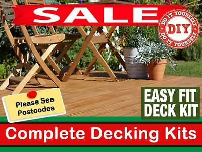 Square Decking Kit tanalised timber everything you need 3m x 3m garden decking