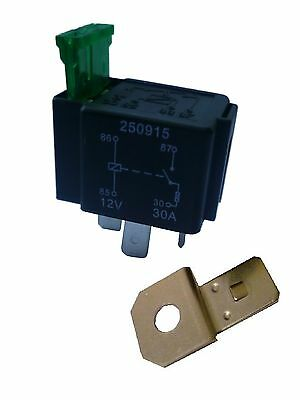 FUSED 4 Pin 'Normally Open' contact STANDARD (mini) Relay with 30A Fuse