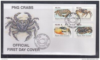 Papua New Guinea 1995 Crabs FDC
