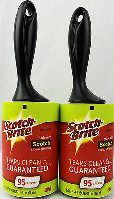 New Scotch Brite Lint Roller Remover 2 Rolls 95 Sheets Each Roll