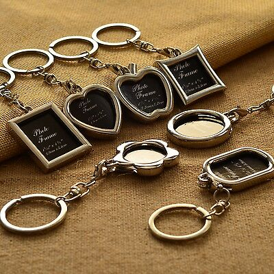 Creative Metal Alloy Insert Picture Photo Frame Split Nice Keyring Keychain Gift
