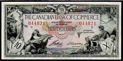 "Canada Ps971 $10 ""mercury - Ceres"" 1935 Extremely Fine! Canadian Bank"