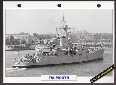 HMS FALMOUTH Frigate War Ship PICTURE DATA SPEC SHEET
