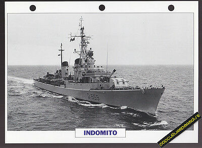 INDOMITO Italy 1955 War Ship PICTURE DATA SPEC SHEET