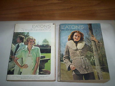 2 Vintage Eaton's Department Store Spring Summer & Fall Winter 1975 Catalogs Lot