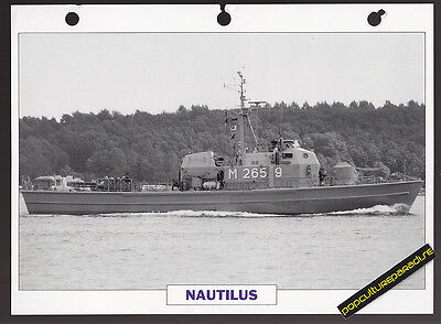 USS NAUTILUS Minesweeper Ship PICTURE DATA SPEC SHEET