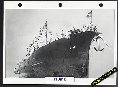 FIUME Italy Cruiser War Ship PICTURE DATA SPEC SHEET