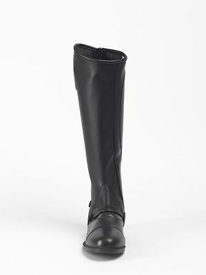 NEW Brogini Stretch Riding Gaiters/Chaps Leather Look Close Contact Black Adult
