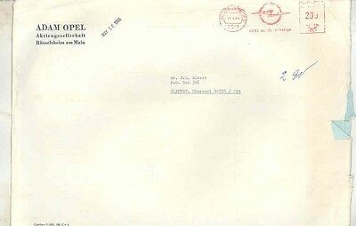 1966 Opel Germany ORIGINAL EMPTY Factory Mailing Envelope ww0395