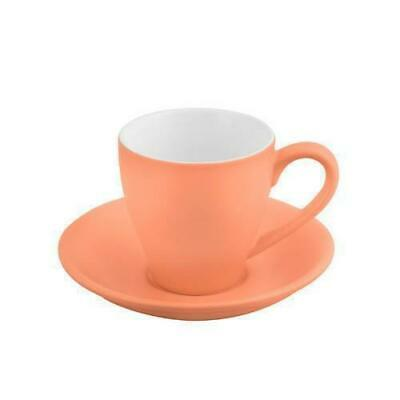 6x Coffee Cup & Saucer Apricot 200mL Bevande Cono Tea Hot Chocolate Cups