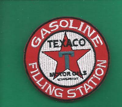 New 3 Inch Texaco Gasoline Filling Station Iron On Patch Free Shipping L