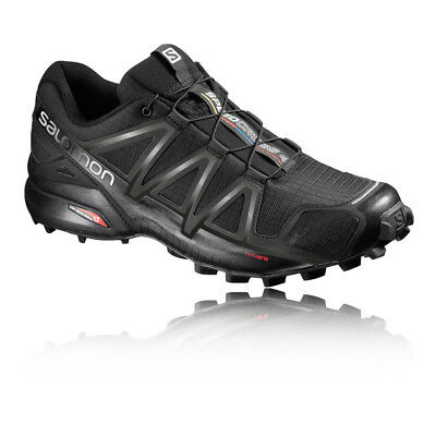 Salomon Speedcross 4 Mens Black Water Resistant Running Shoes Trainers