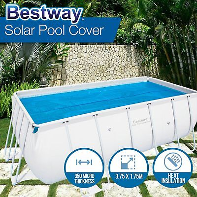 NEW Swimming Solar Pool Cover Bestway Blanket 375 x 175cm fits 56251 56241 56244