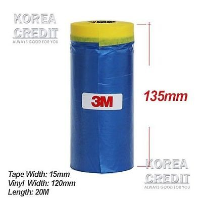 3M 900 mm Cover Roll Masking Tape Poly Film Sheet Pull Down Pre Folded 20m Roll