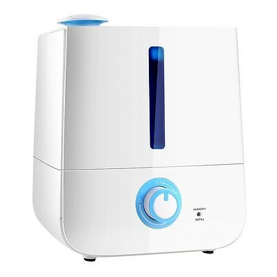 NEW 30W Ultra-silent Home Office 3L Ultrasonic Cool Mist Air Humidifier - White