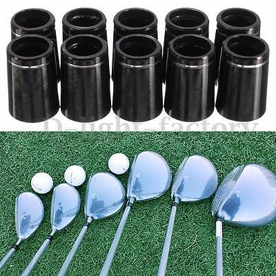10x Golf Taper Tip Ferrules Adapter With Single Silver Ring For 0.370 Iron Shaft