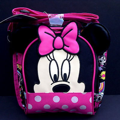 DISNEY Store MINNIE MOUSE LUNCH BOX Tote INSULATED School 2016 NWT