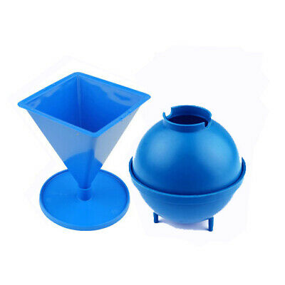Set x 2 Candle Moulds 1 x Sphere & 1 x Pyramid Mould UK Made S7567