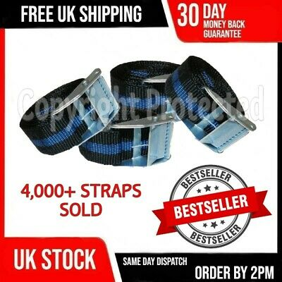 4 Cam 4 Buckle Tie Down Lashing Straps Roof Rack Trailers Cargo 25Mm X 2.5M Long