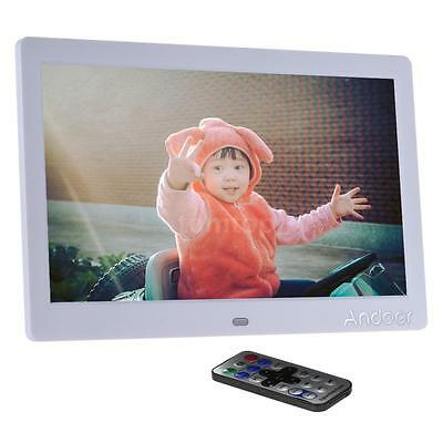 """10""""inch HD 16:9 LED Digital Photo Frame Picture MP3 MP4 Movie Player Remote O2Y2"""