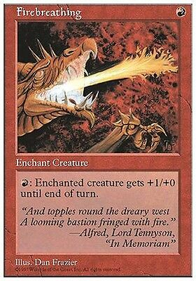 4x Soffio del Drago - Firebreathing MTG MAGIC 5E Eng