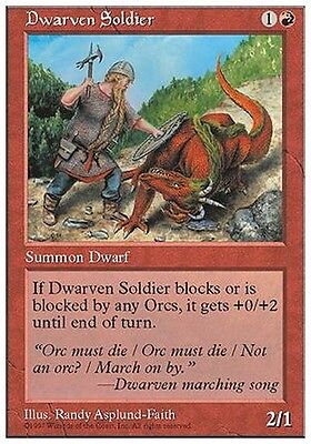 Nano Soldato - Dwarven Soldier MTG MAGIC 5E Eng