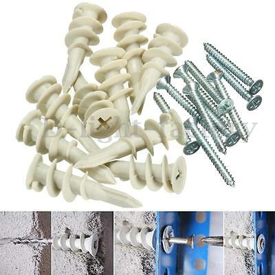 Heavy Duty Plasterboard Cavity Wall Fixings Plugs Speed Anchors With A Screws