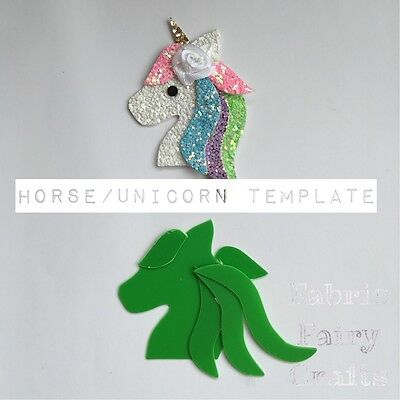 Horse Or Unicorn Animal Plastic Template To Make Your Own Use For Hair Clips