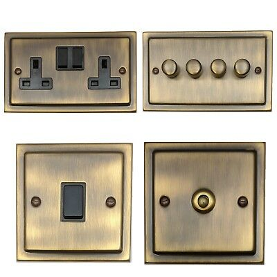 Trimline Antique Bronze TABB Light Switches, Plug Sockets, Dimmers, Cooker, TV