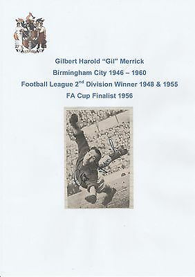 Gil Merrick Birmingham City 1946-60 Rare Original Hand Signed Newspaper Cutting