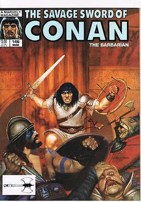 Savage Sword of Conan # 146 Blood Circus ! grade 8.0 scarce mag !!