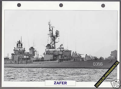 ZAFER 1944 Turkey War Boat Ship PICTURE DATA SPEC SHEET