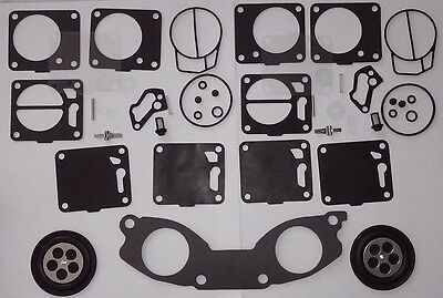 (2) Yamaha XL700 Venture 701 SBN Carburetor Rebuild Kit Base Gasket Waverunner