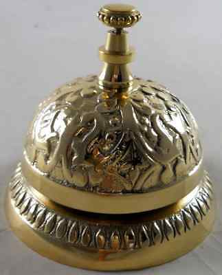 Solid Brass Victorian Style Service Desk Bell .