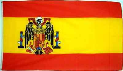 3'x5' SPANISH FLAG of SPAIN, 1945-1977 Falange Franco .
