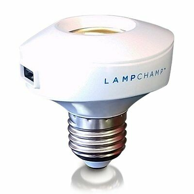 LampChamp - The USB Lamp Socket Charger & Adapter for Cell Phones / Tablets /