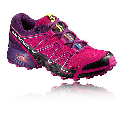 Salomon Speedcross Vario Womens Pink Purple Trail Running Shoes Trainers