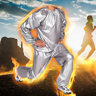 Heavy Duty Fitness Weight Loss Sweat Sauna Suit Exercise Gym Anti-Rip L-4XL