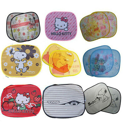 2X Cute Kids Baby Children Boy or Girl Car Window Protector Sun Shades 45x36cm